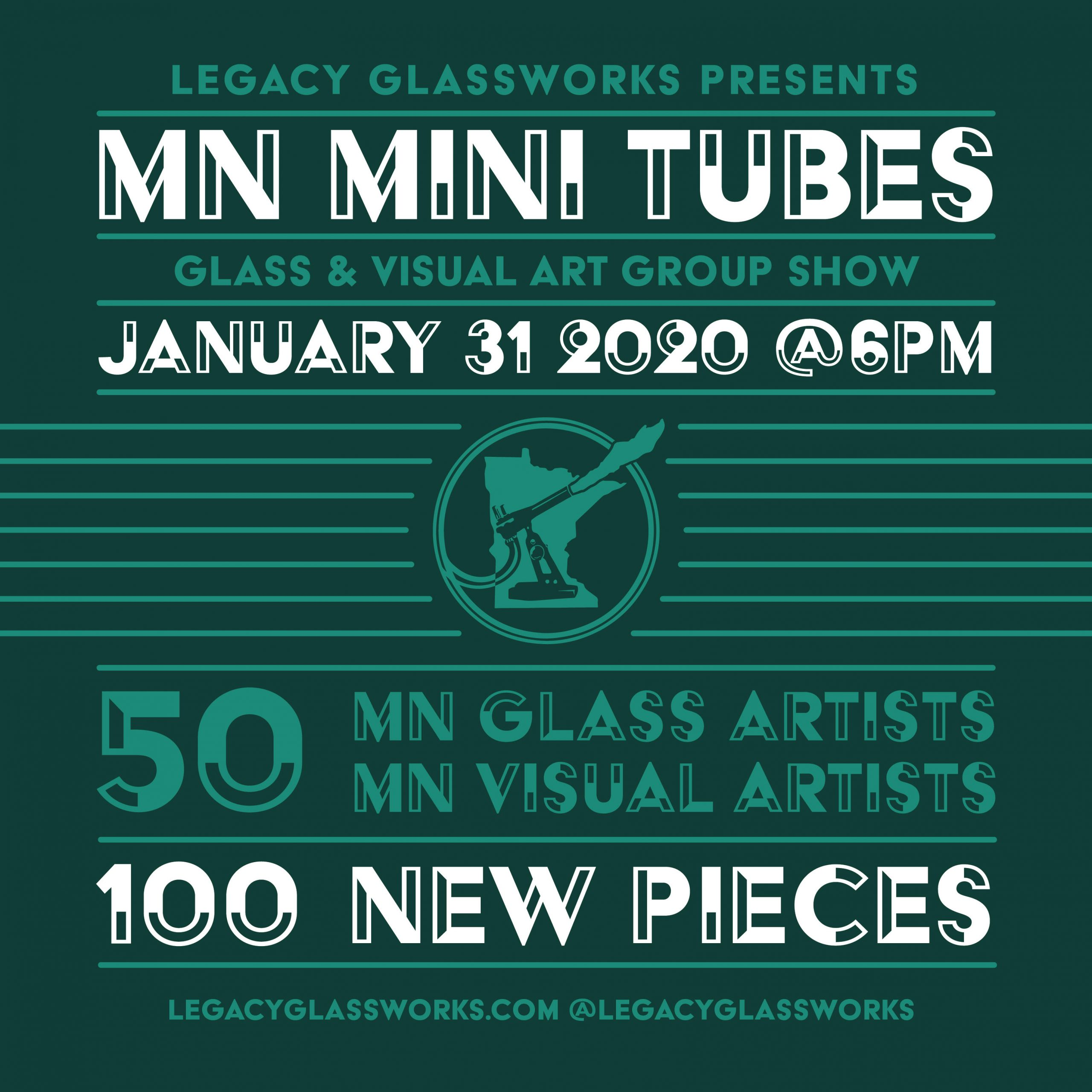 Opening Reception: MN Mini Tubes Show at Legacy Glassworks